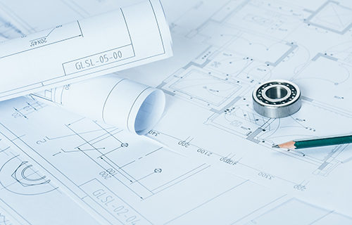 detail shot of Architectural blueprints.